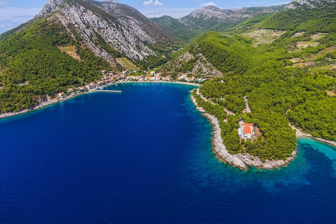 trstenik from sky croatia holidays