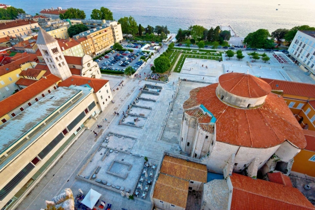 zadar from sky croatia holidays