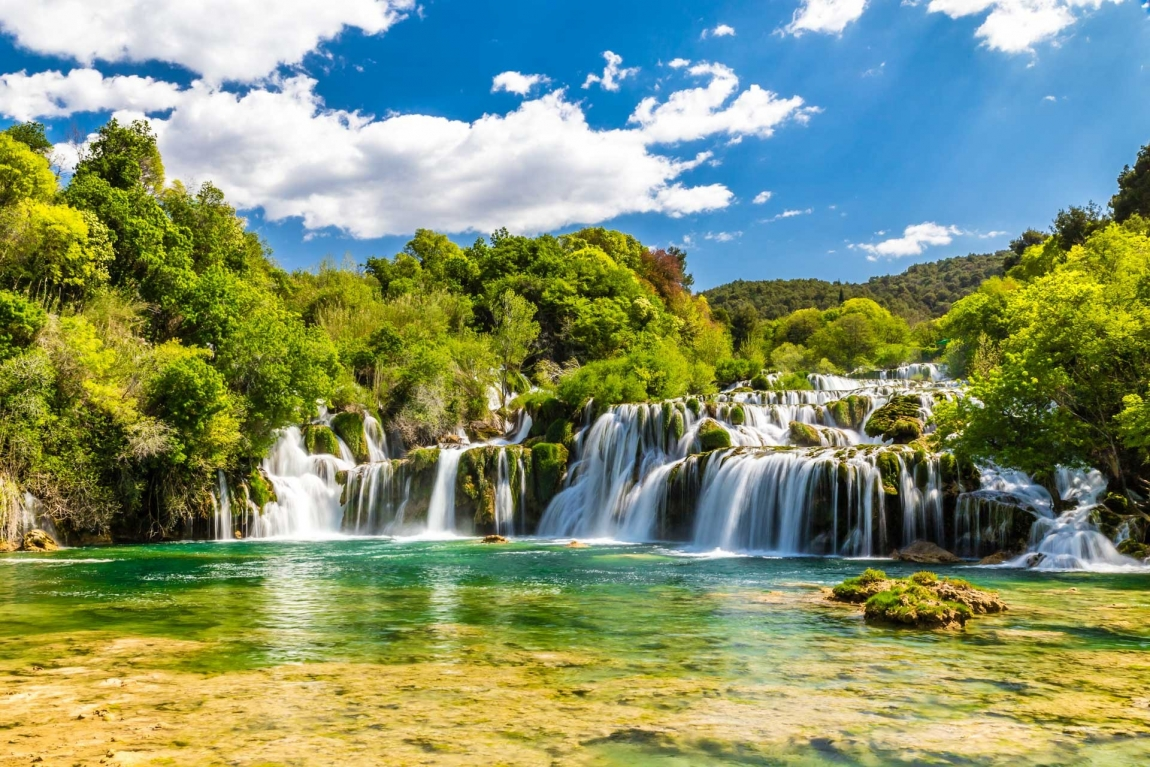 krka main waterfall croatia holidays